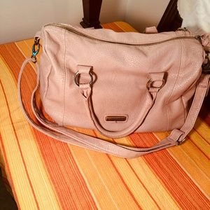 Steve Madden Pink blush faux leather tote, used